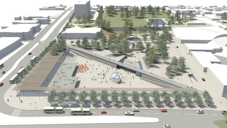 Imagen del proyecto de las oficinas LMB Arquitectos y TRI Arquitectos