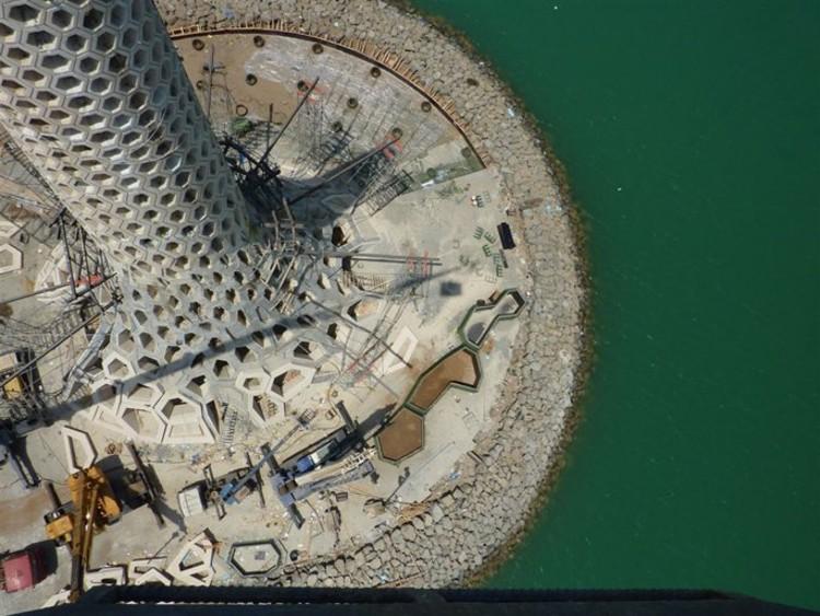 Construcción Faro del Rompeolas