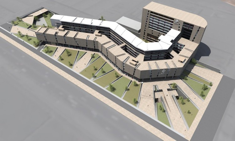 Segundo lugar concurso arquitect nico nueva sede central for Programa arquitectonico biblioteca