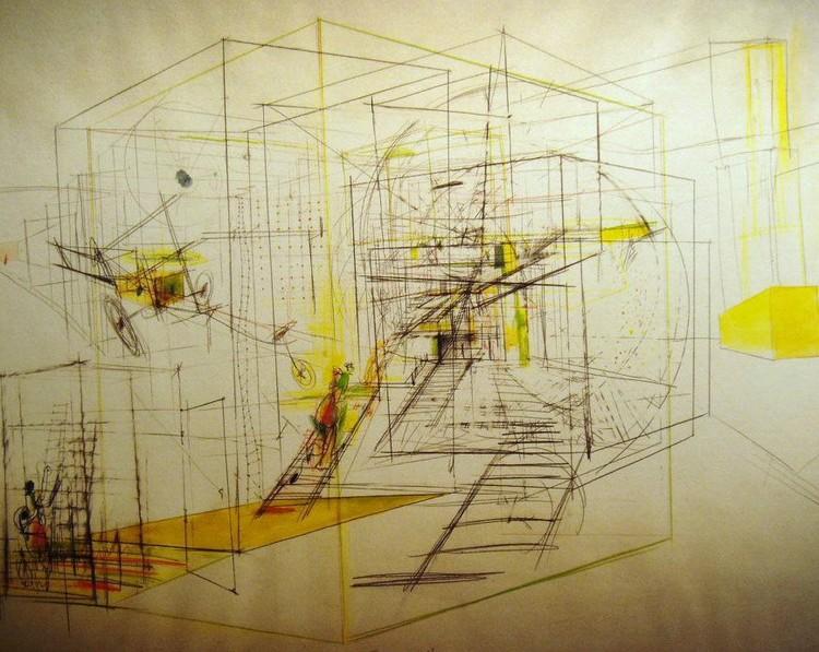 Boceto de un laberinto móvil, 1968