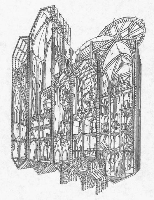Dibujos conceptuales para la versión original de Alien 3 que nunca se realizó