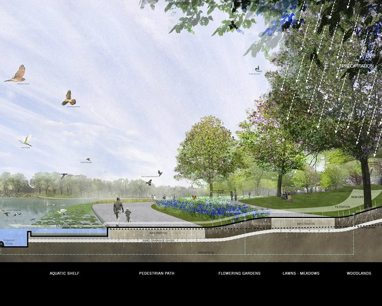 Ecology Section - Courtesy of Rogers Marvel Architects  + PWP Landscape Architecture