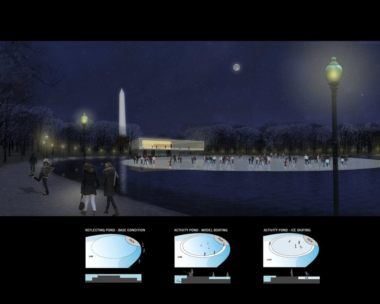Night Ice Skating - Courtesy of Rogers Marvel Architects  + PWP Landscape Architecture
