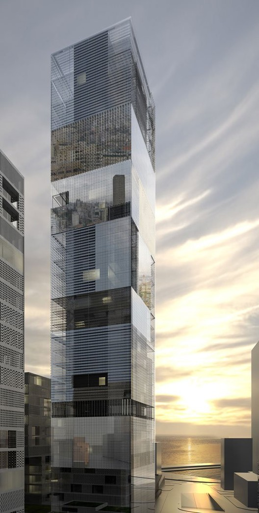 Mirror tower lan architecture archdaily for Architecture miroir