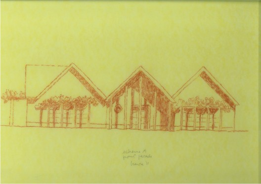Sketch of Scheme A by Michael Graves © Michael Graves & Associates