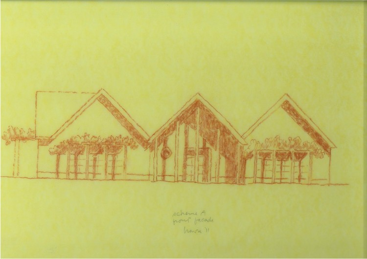 Sketch of Scheme A by Michael Graves © Michael Graves & Associates