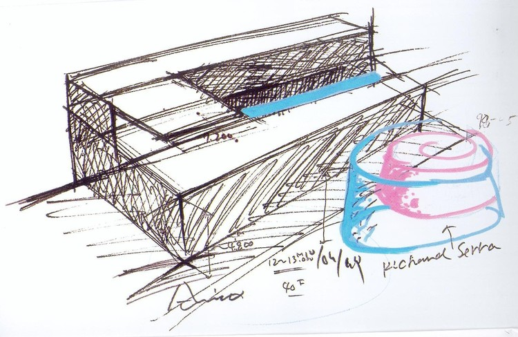 Tadao Ando sketch 01 / Courtesy of Pulitzer Foundation for the Arts and Washington University in St. Louis