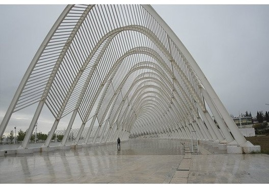 An olympic structure, left empty after the Games. Photo part of The Olympic City ©  Jon Pack and Gary Hustwit