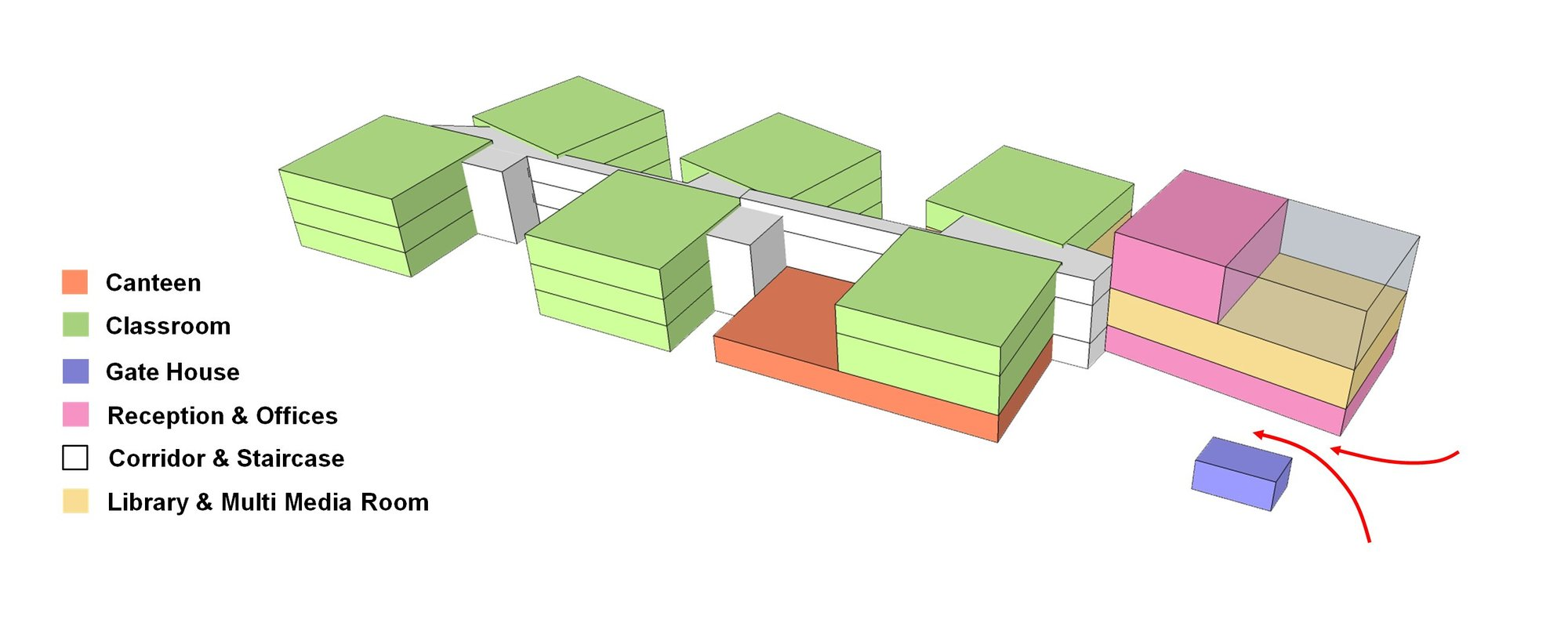 Gallery of suzhou 133 baitang one kindergarten project for Architecture zoning diagram