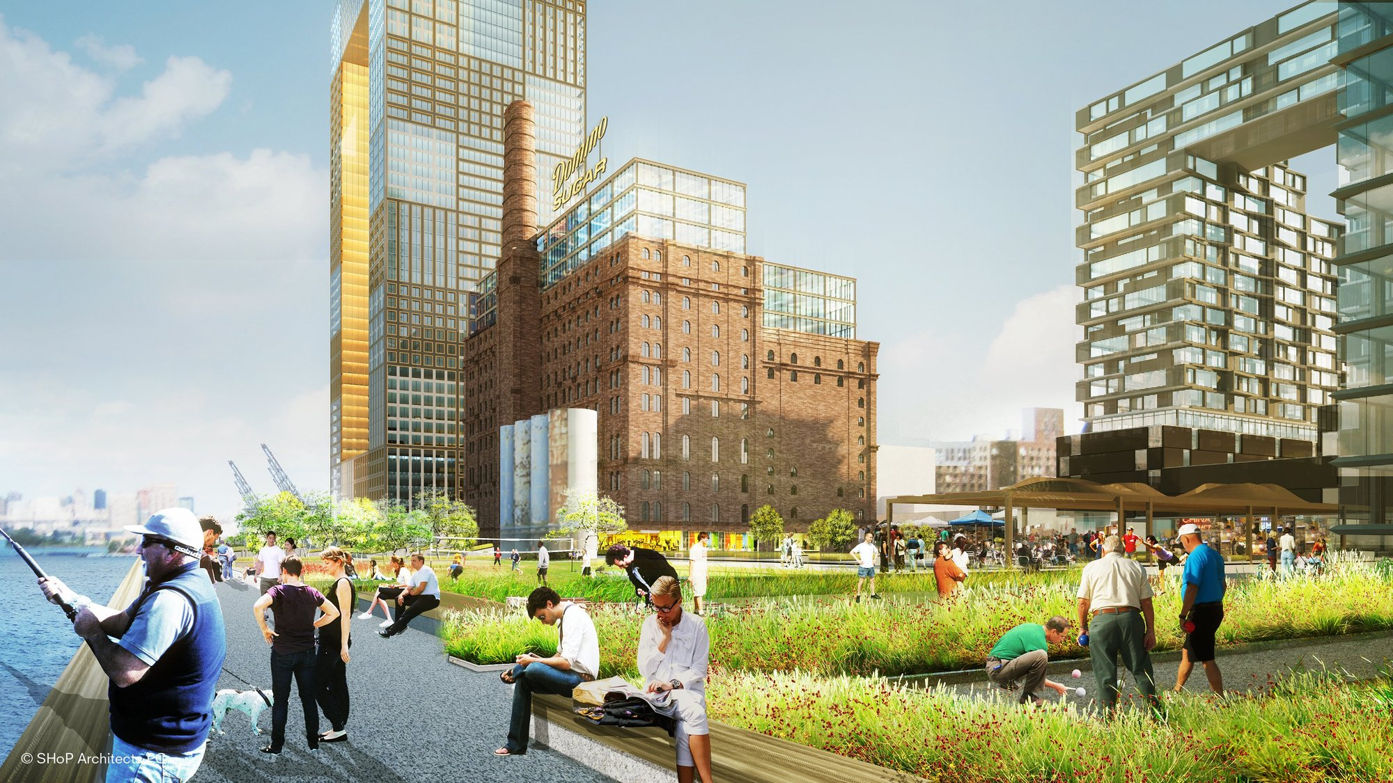 Domino sugar factory master plan development shop for Suelo waterfront