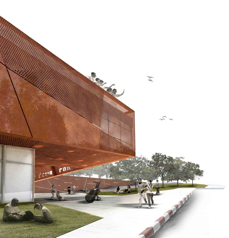 """Yad Labanim"""" (""""A Memorial to the Sons"""") Competition Entry / Eli ..."""