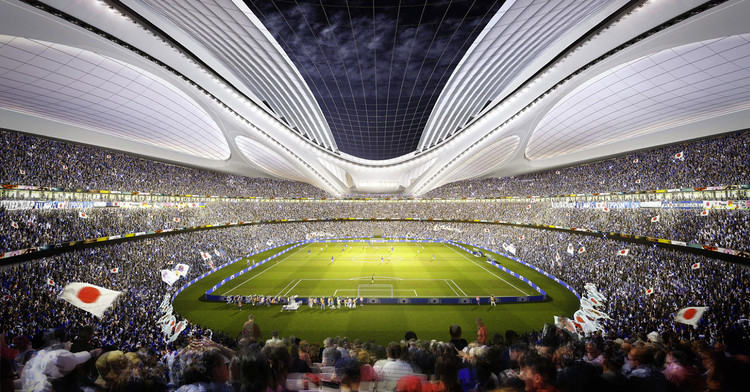 Zaha Hadid Architects Entry No.17 - Courtesy of Japan Sport Council