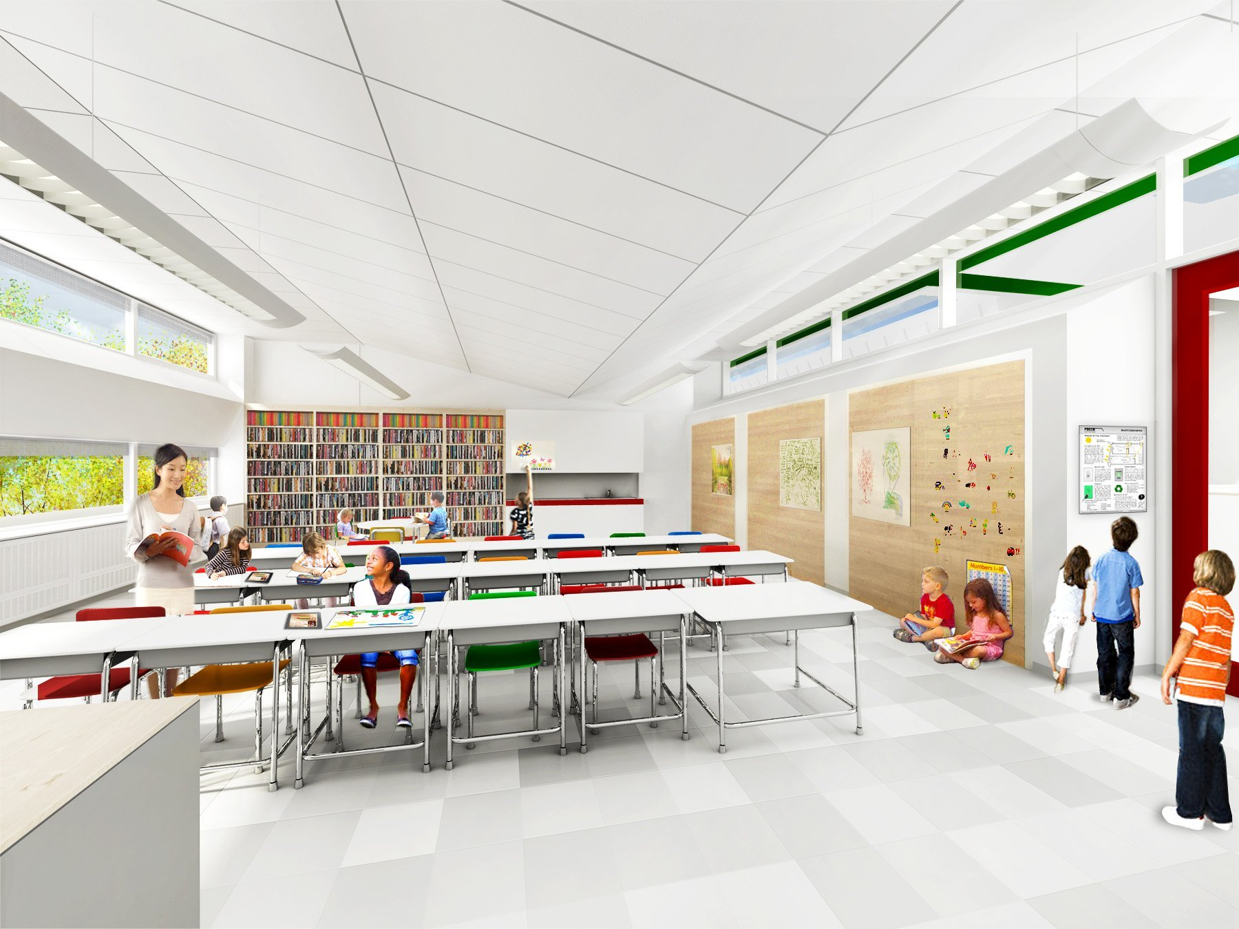 Classroom Design Architecture ~ Gallery of som breaks ground on new york s first net zero