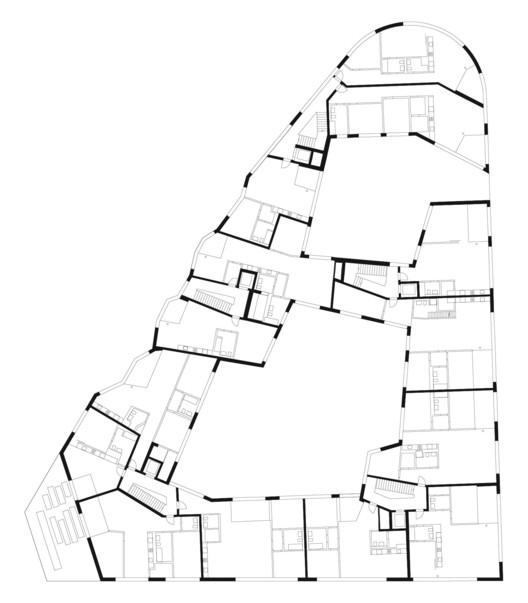 Plan © Buchner Bründler Architekten