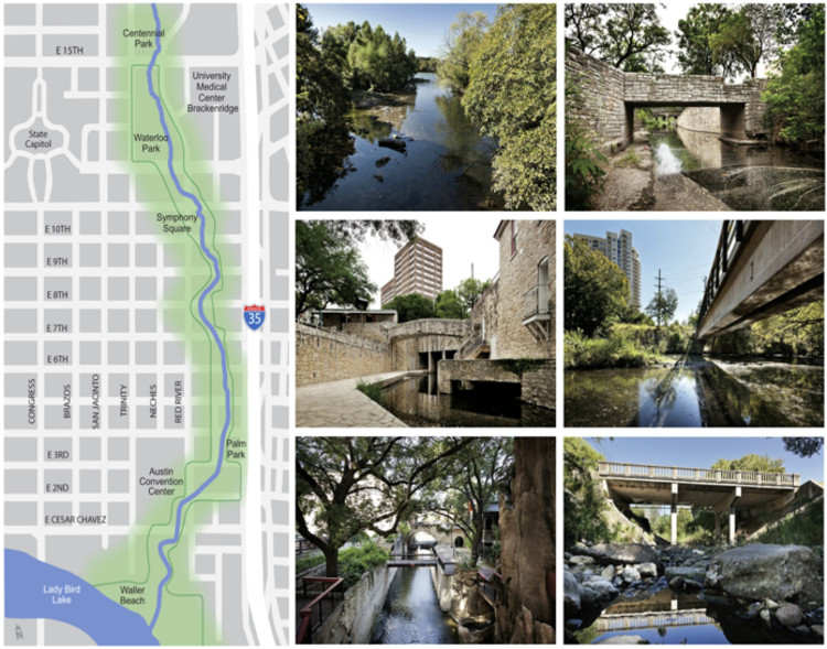 Existing Waller Creek - Courtesy of Waller Creek Conservancy