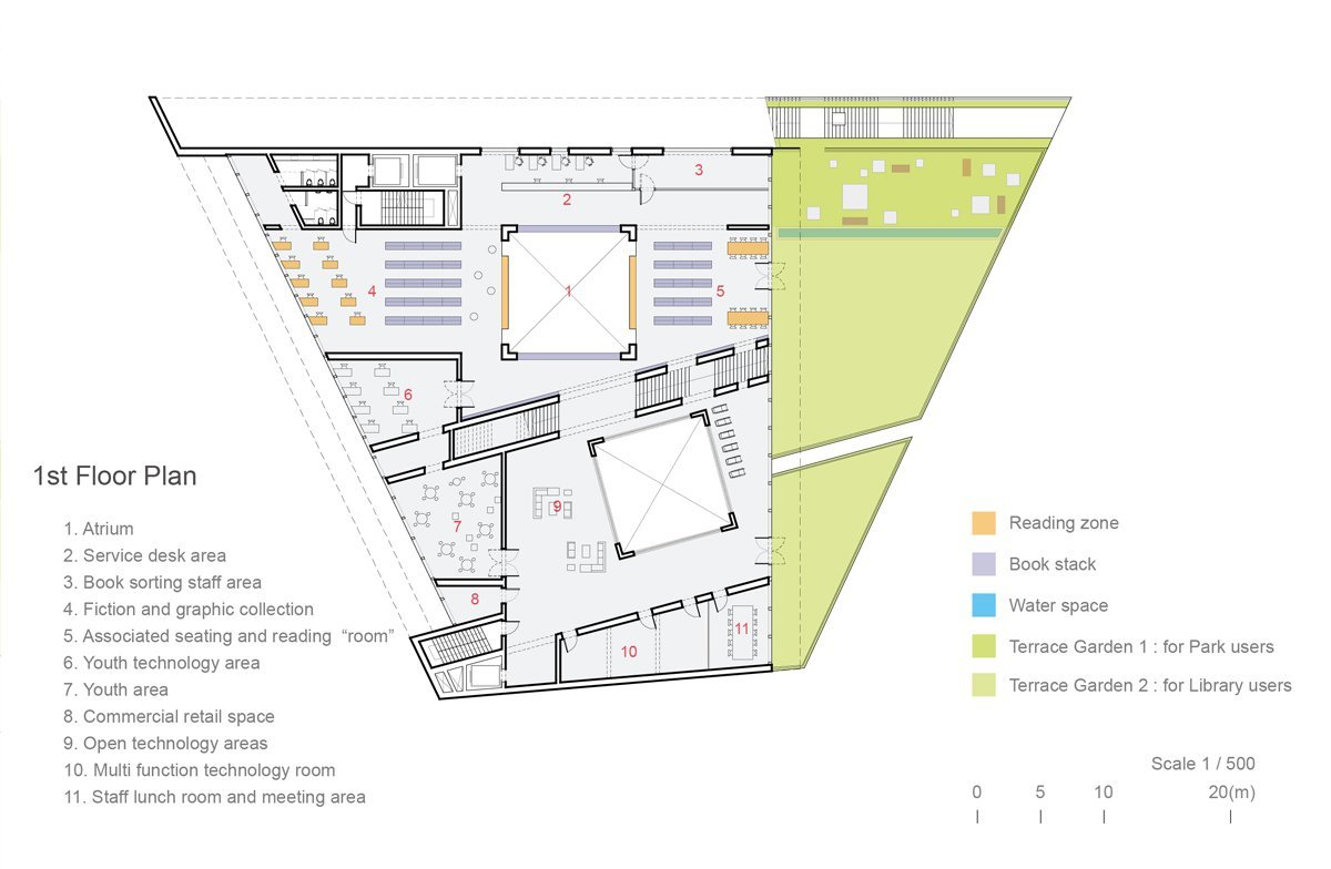 House Plans By Architects Gallery Of Green Square Library Amp Plaza Design Competition