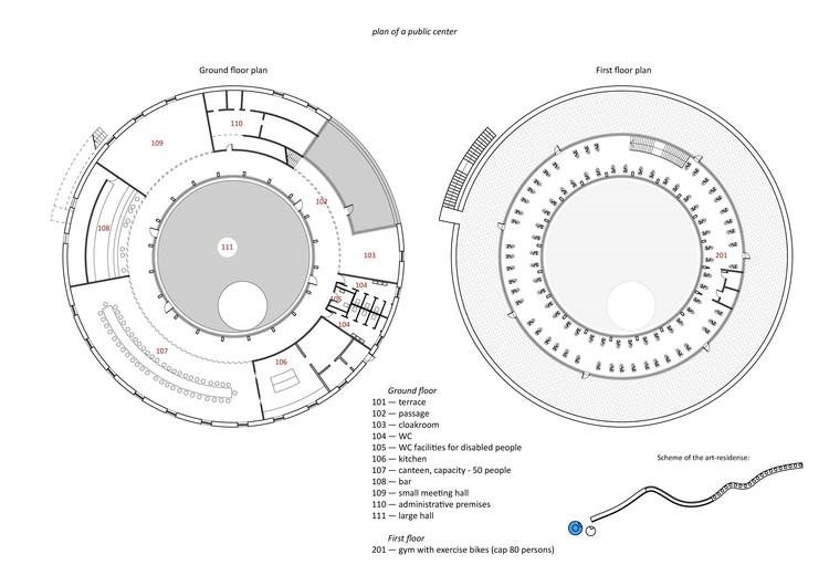 ground floor and first floor plan