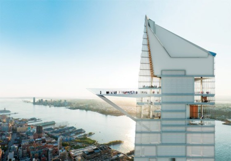 Kohn Pedersen Fox Associates' 1,300-foot office tower planned for 33rd Street and Tenth Avenue. Photo: Rendering by Visualhouse