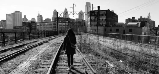 The unused Reading Railroad, in Philadelphia.