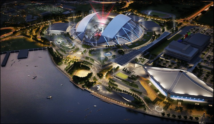 Aerial South West © Singapore Sports Hub, Oaker