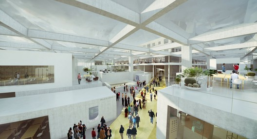 Public crossing through the LabCity - Image courtesy of OMA