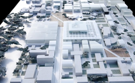 Overview of the ECP integrated in the urban plan - Image courtesy of OMA