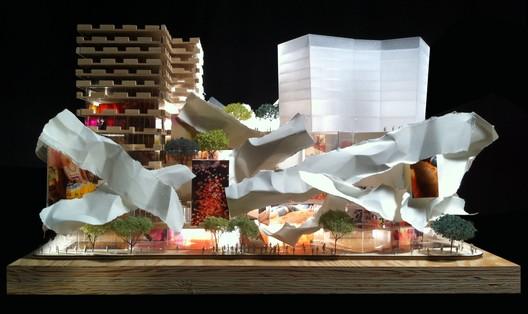 Podium, Courtesy of Gehry International, Inc