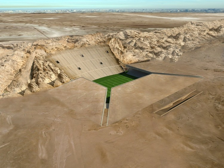 The Rock Stadium, Al Ain, UAE / MZ Architects