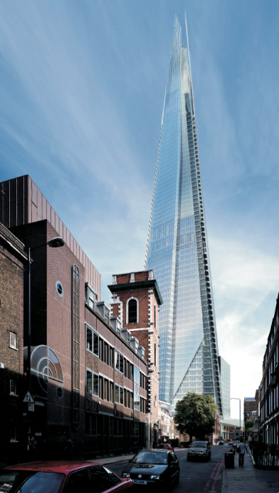 Rendering of the Shard, by Renzo Piano. © Renzo Piano Building Workshop.