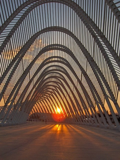 The Olympic Agora, designed by Santiago Calatrava, in Athens. Photo via Flickr User CC John & Mel Kots. . Used under <a href='https://creativecommons.org/licenses/by-sa/2.0/'>Creative Commons</a>