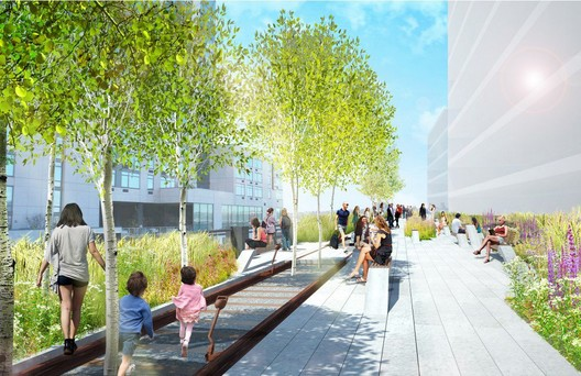 The Highline: Eastern Rail Yards - Courtesy City of New York and Friends of the High Line