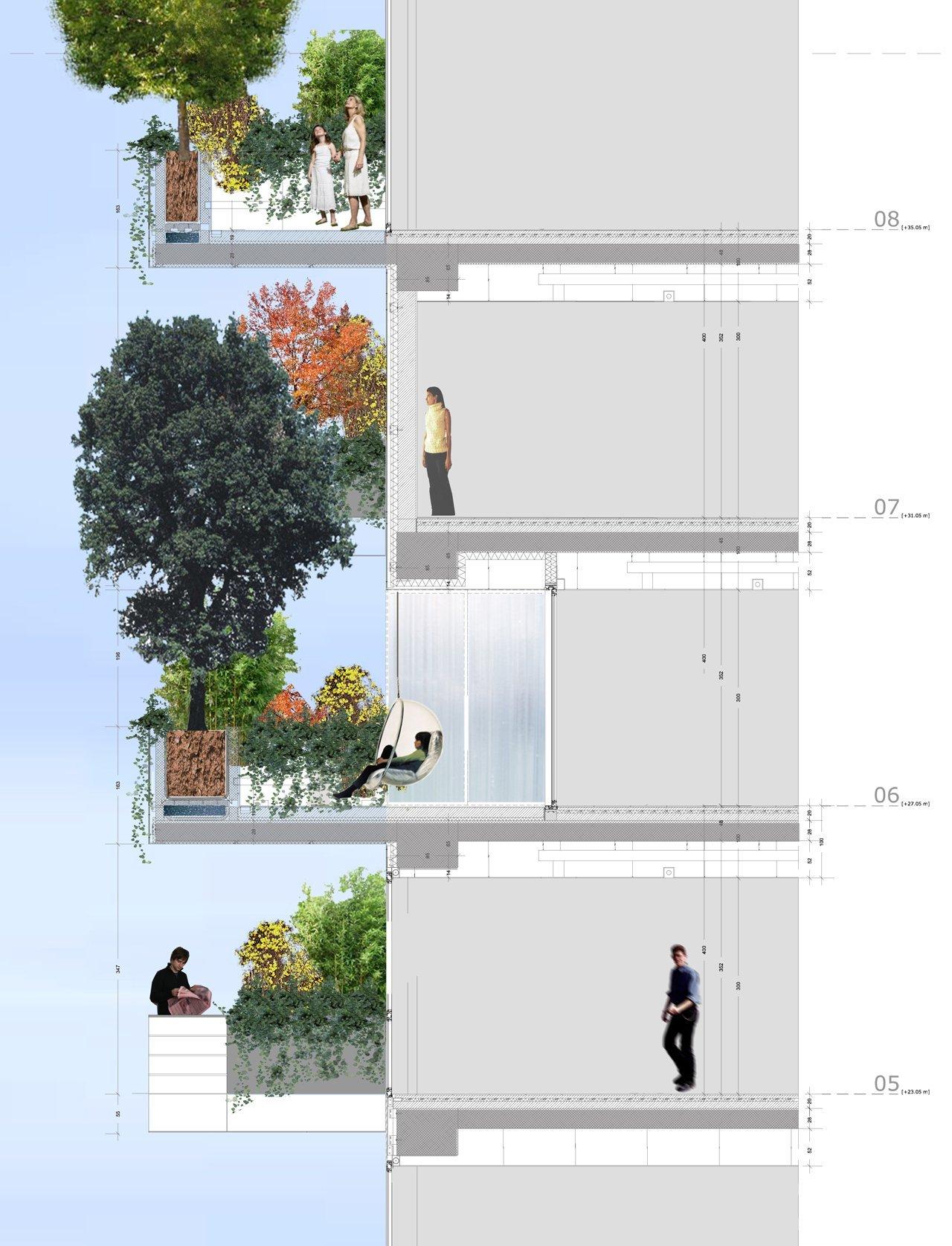 gallery of in progress bosco verticale boeri studio 8. Black Bedroom Furniture Sets. Home Design Ideas