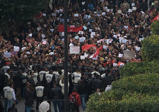 Tunisian Revolution via cjb22 on flickr - http://www.flickr.com/photos/cjb22222222/5373435731/