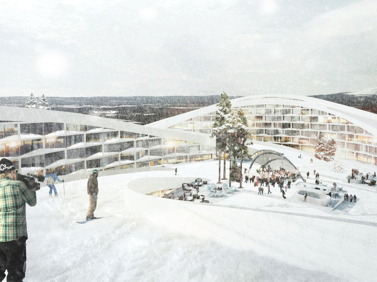 Big unveils a ski resort in lapland archdaily for Ski design hotel
