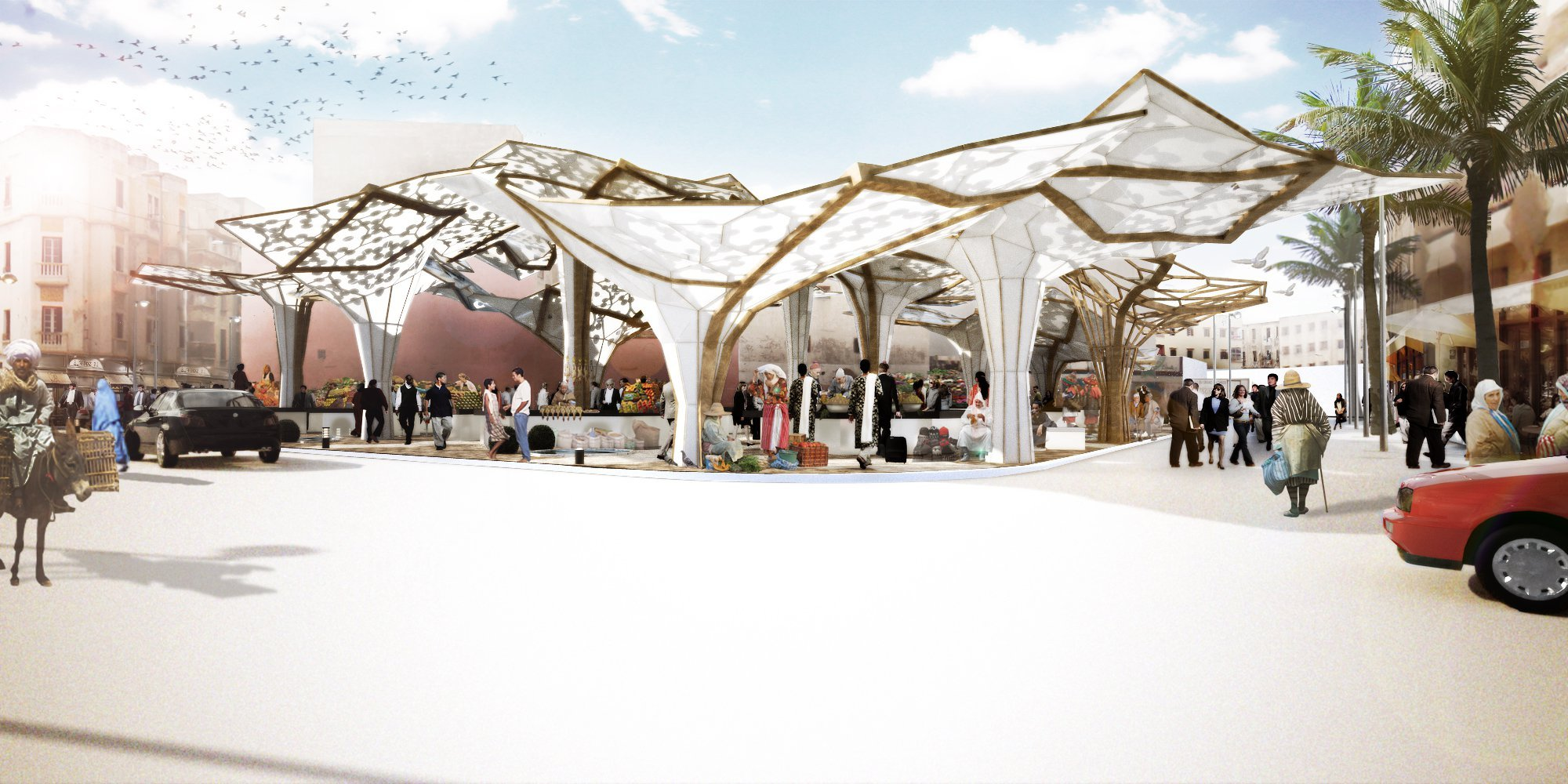 gallery of sustainable market square competition entry