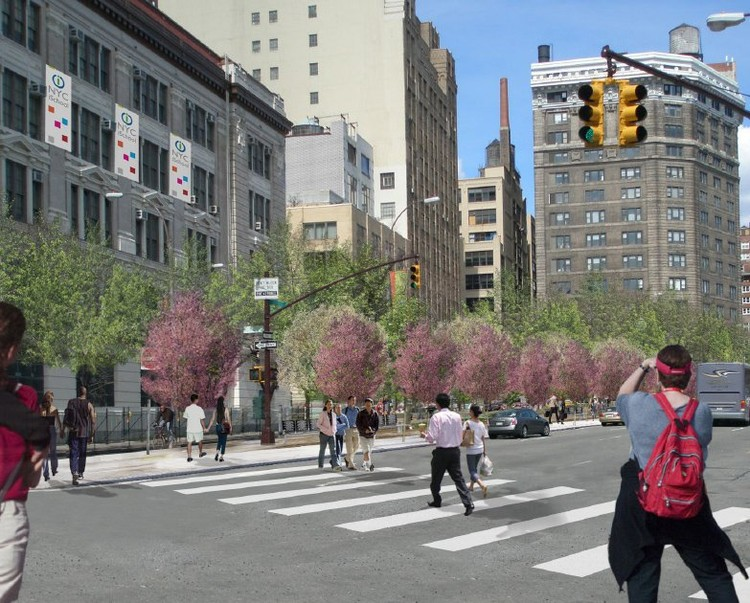 © 2012 Hudson Square Connection Rendering by Mathews Nielsen Landscape Architects