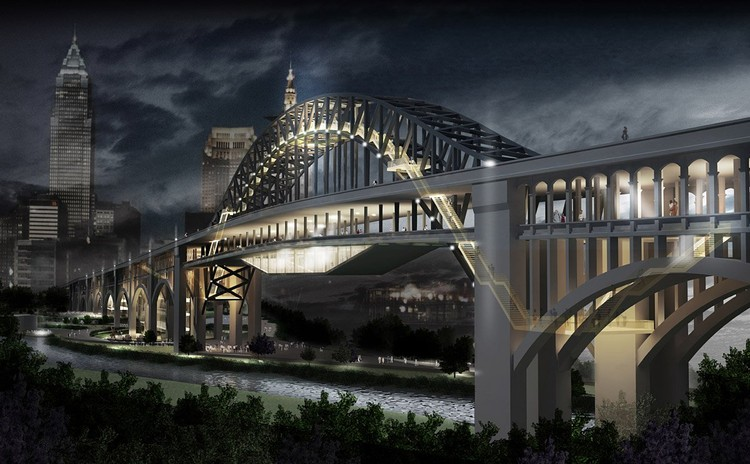First Place (Tied) / Archilier Architecture; Courtesy of Transforming the Bridge Competition