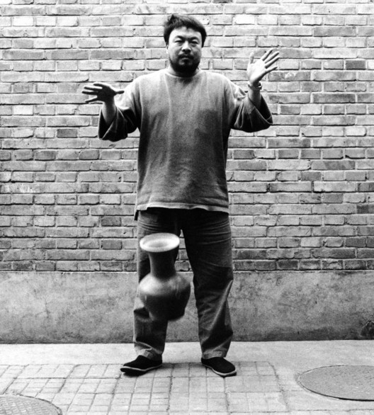 Ai Weiwei, second panel of the triptych Dropping a Han Dynasty Urn, 1995/2009. Image courtesy of the artist.