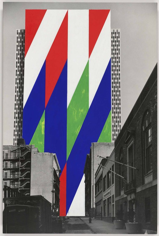 Jason Crum (American, 1935-2004). Project for a Painted Wall, New York City, New York. Perspective. 1969. Courtesy of MoMA: 9 + 1 Ways of Being Political
