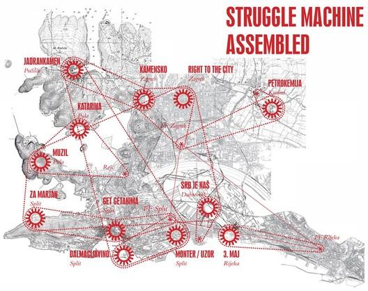 Map of the struggle machine assembled - Courtesy of Pulska grupa