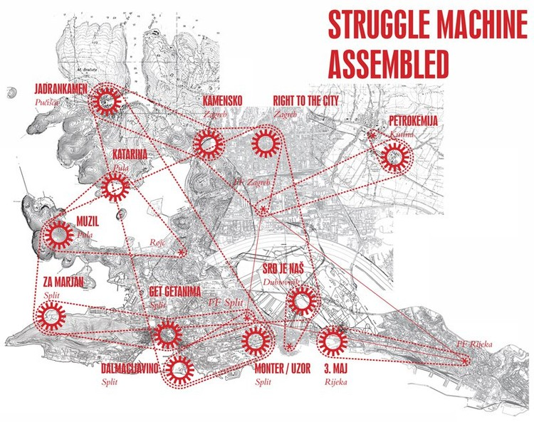 Map of the struggle machine assembled - Courtesy of Pulska grupa
