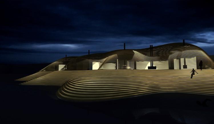 Hernesaari Sauna complex; Helsinki, Finland / Avanto Architects  © Avanto Architects