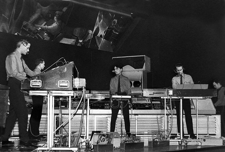 Kraftwerk at Kling Klang studio, 1981
