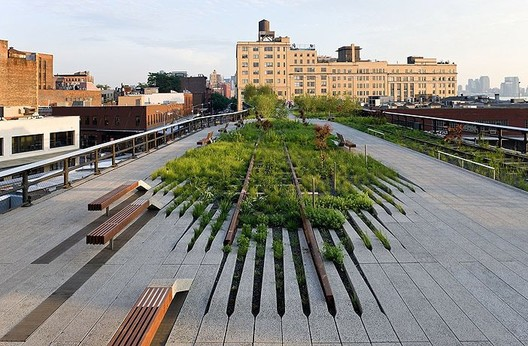 The High Line, a former elevated railway turned public space, is the Low Line's  immediate predecessor. Photo © Iwan Baan.