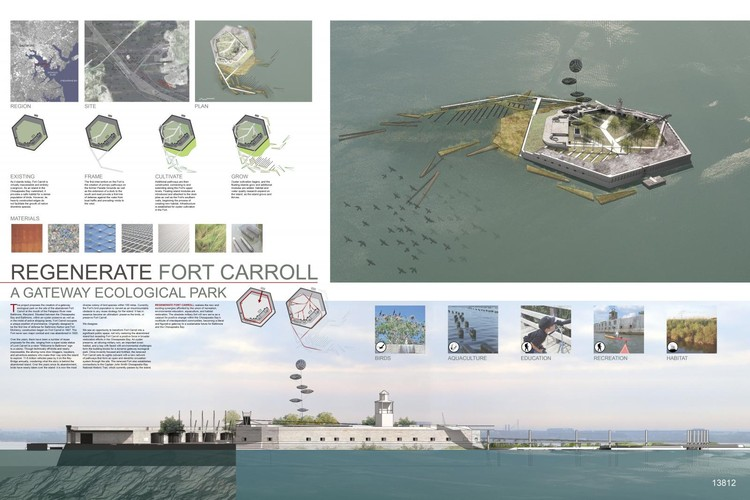 REGENERATE FORT CARROLL: A Gateway Ecological Park, United States / Colin Curley + Sara Allen Harper - Courtesy of Architecture for Humanity