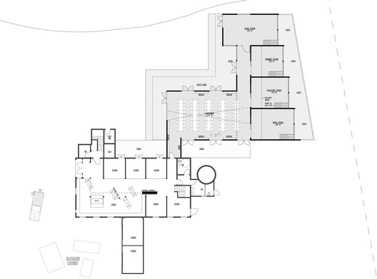 Floor Plan - Courtesy of Hutchison & Maul Architecture