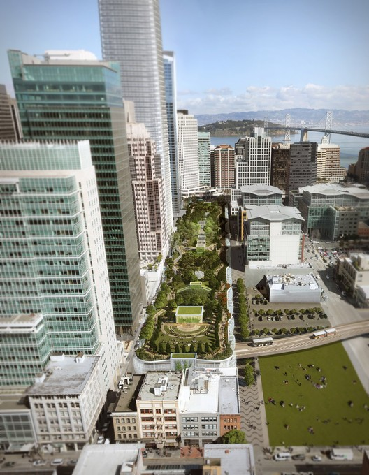 The Transbay Center Project in San Francisco hopes to transform the Transbay Terminal with an extensive rooftop park.
