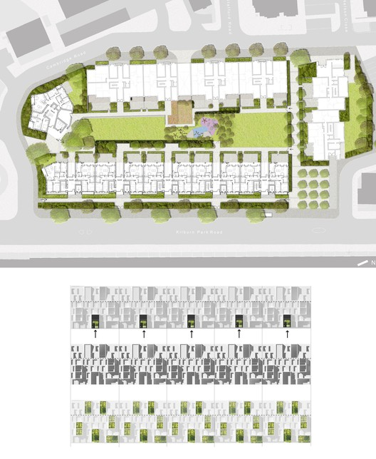 Site Plan and Facade Strategy. Courtesy ABA.