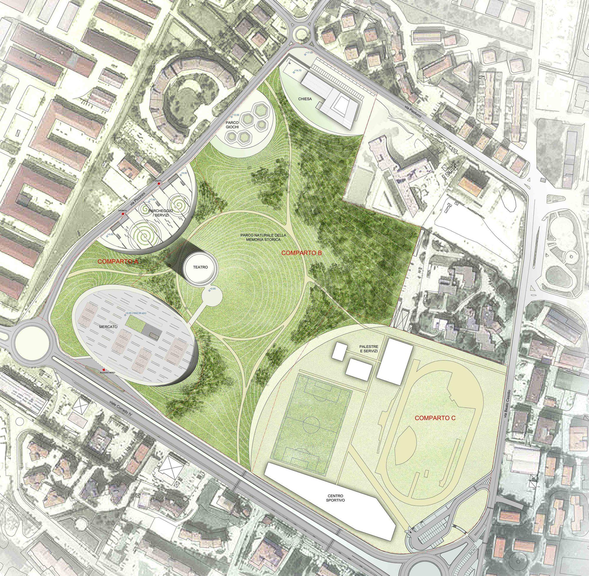 Urban Site Plan Drawing