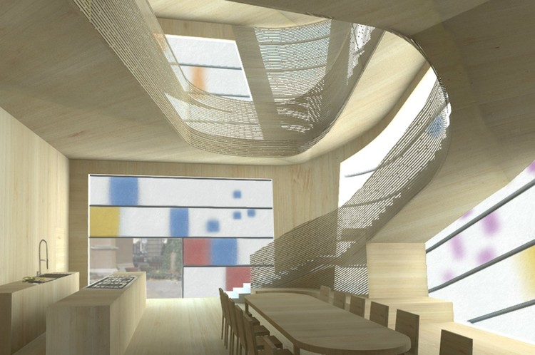 Bamboo Interior - Courtesy of Steven Holl Architects